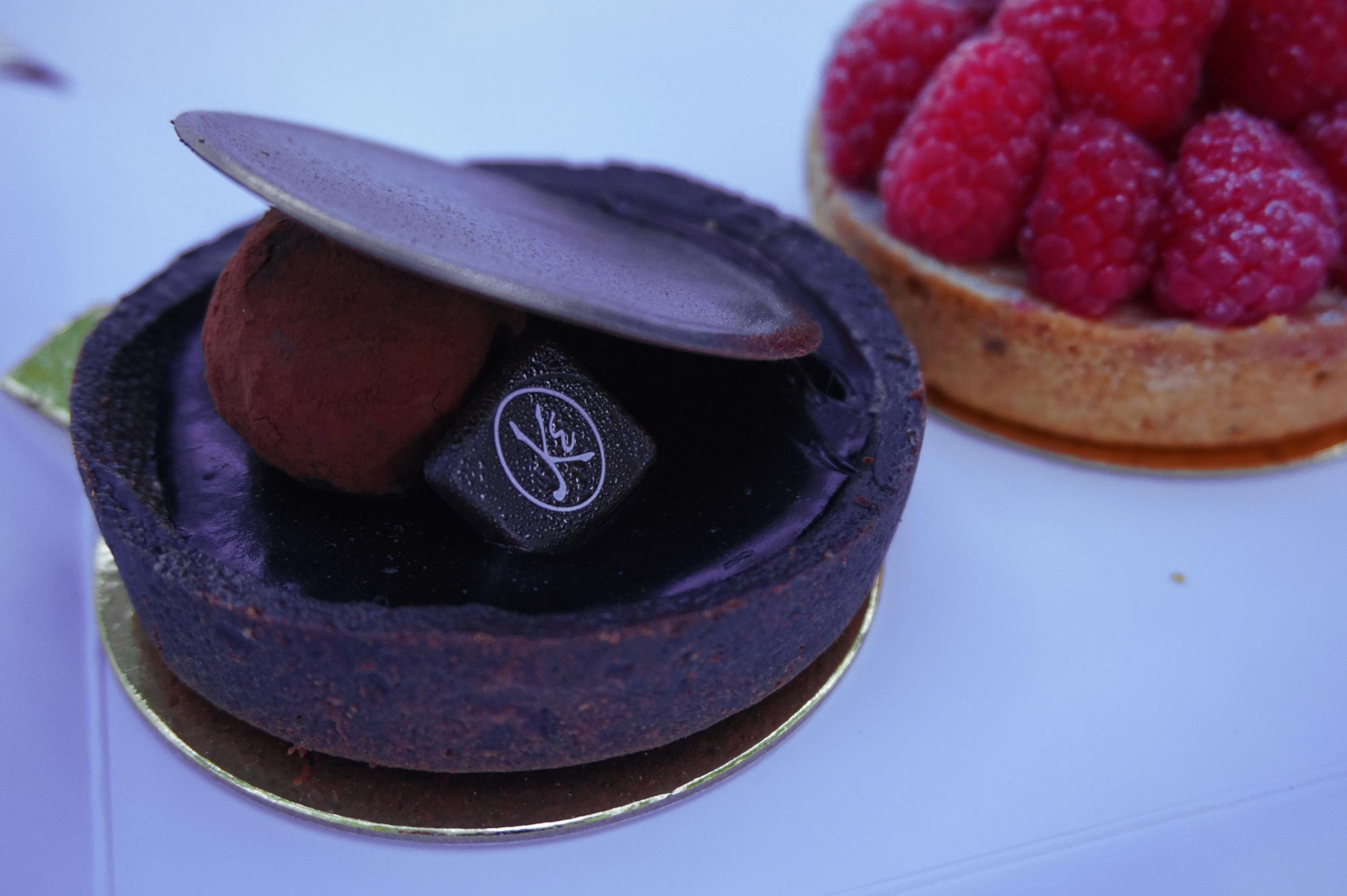 Dark chocolate tarte from Maison Kayser