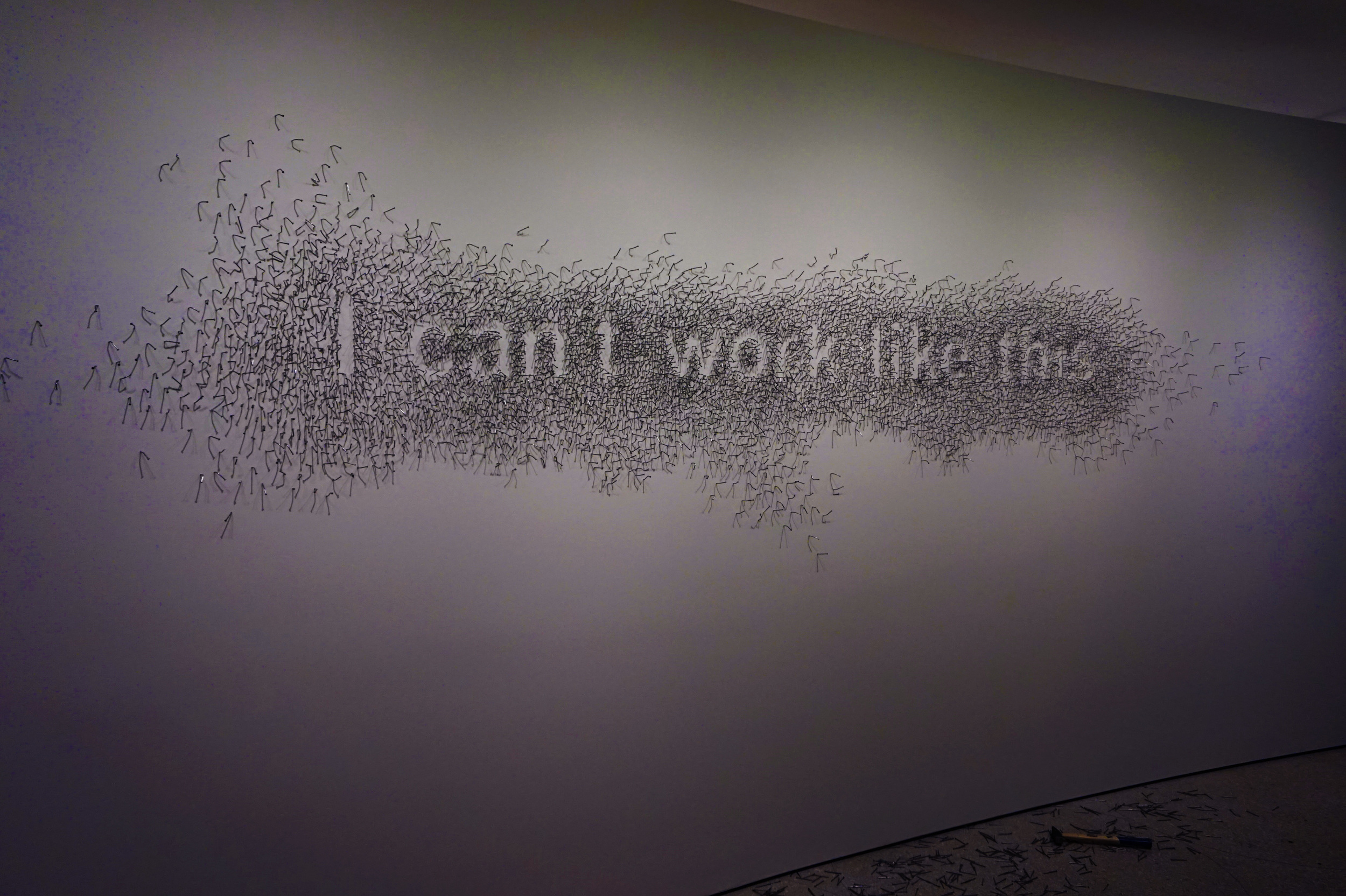 I can't work like this  by Natascha Sadr Haghighian c.2007, intended to reflect her frustrations of being stifled in her profession