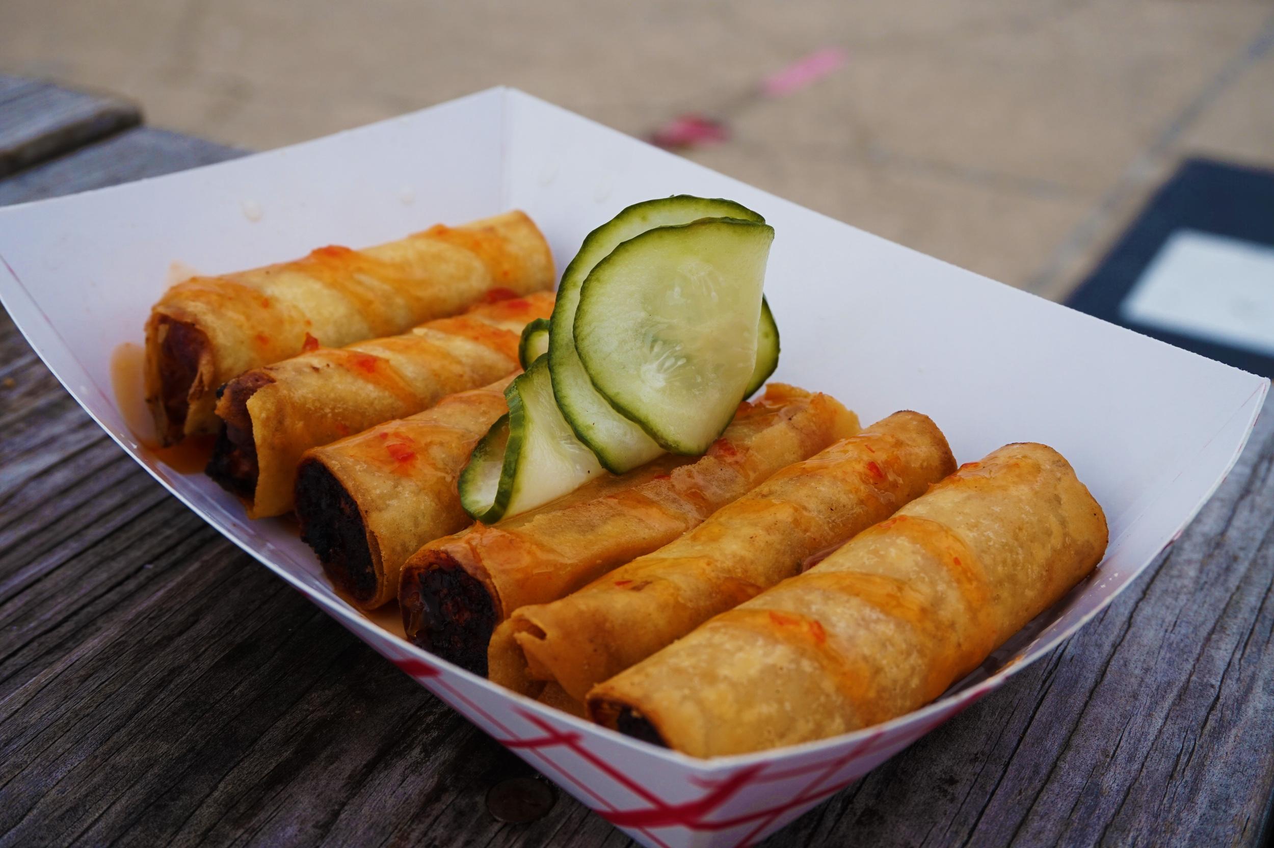 Some Filipino street food that Adrien got