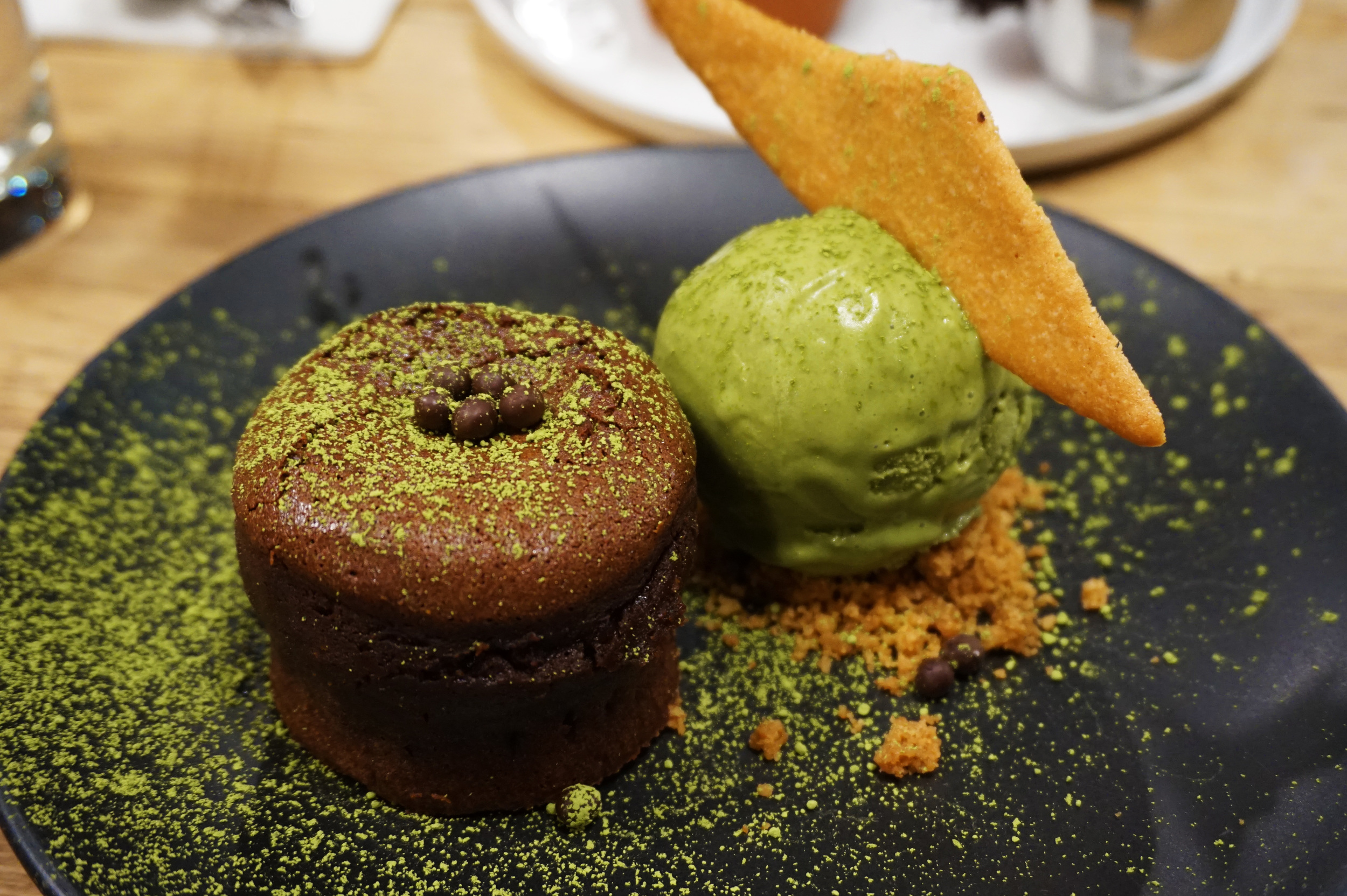 Matcha Green Tea Chocolate Lava Cake (it was just as amazing as it sounds)
