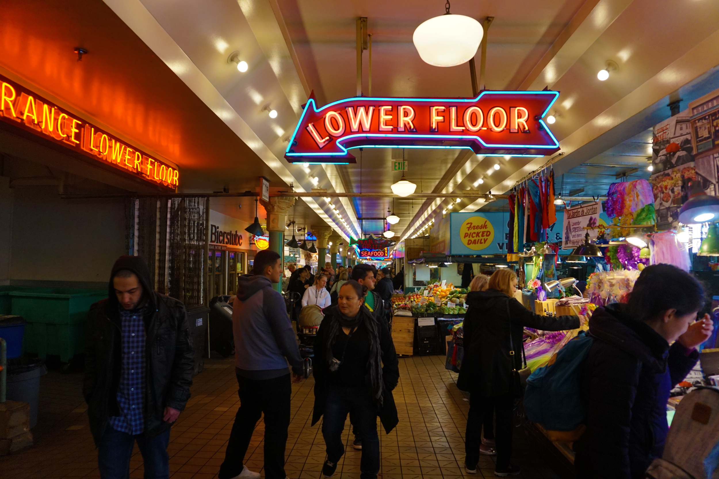 It was kind of like an indoor boardwalk or bazaar
