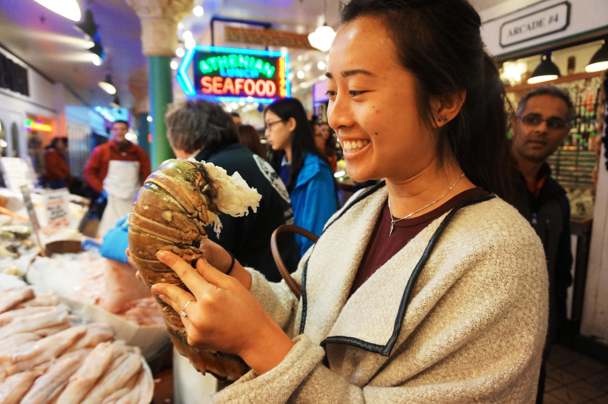 Jumbo lobster, indeed