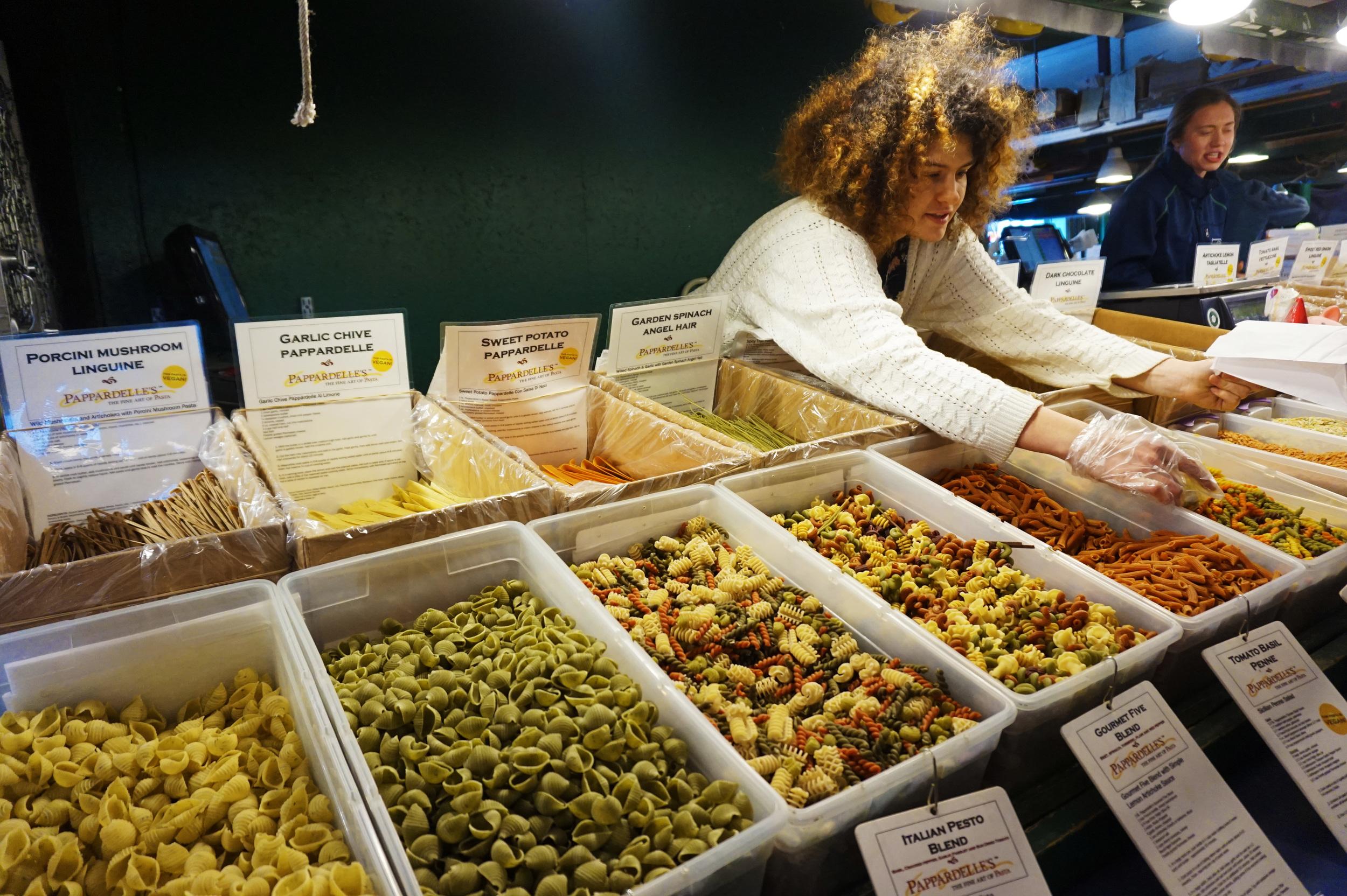 My idea of heaven: unlimited pasta