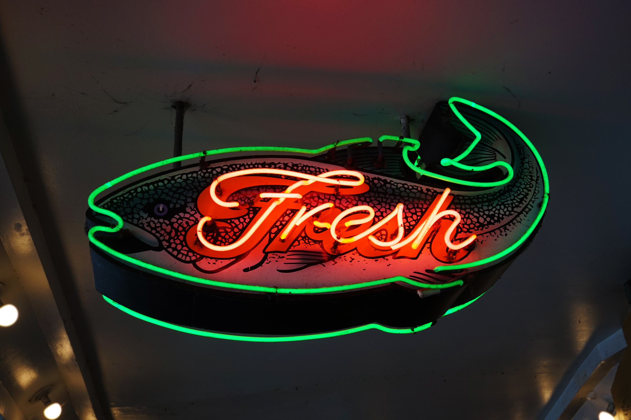 I loved the neon signs here; very retro and cute