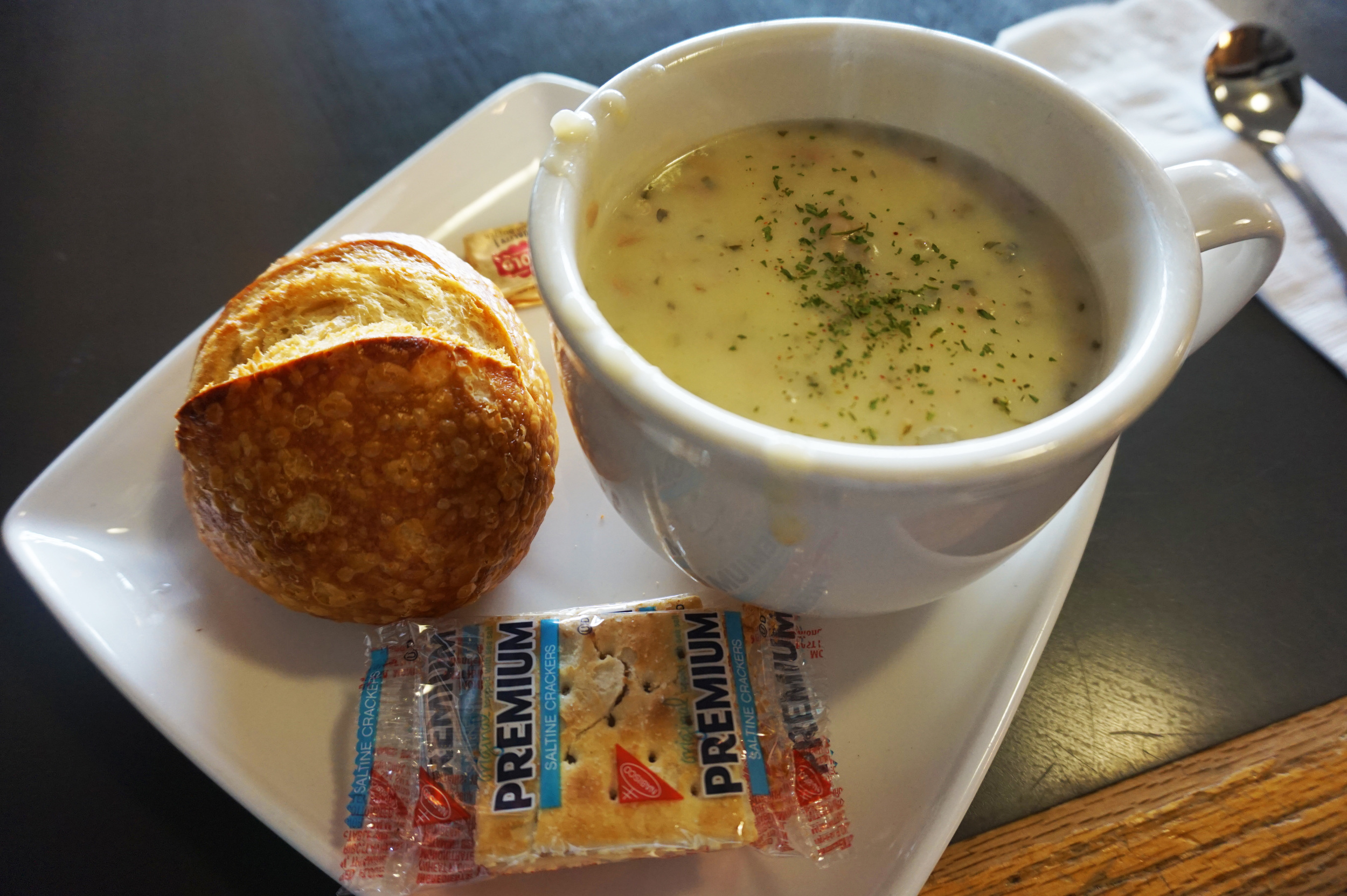 When in the Pacific Northwest, eat clam chowder.