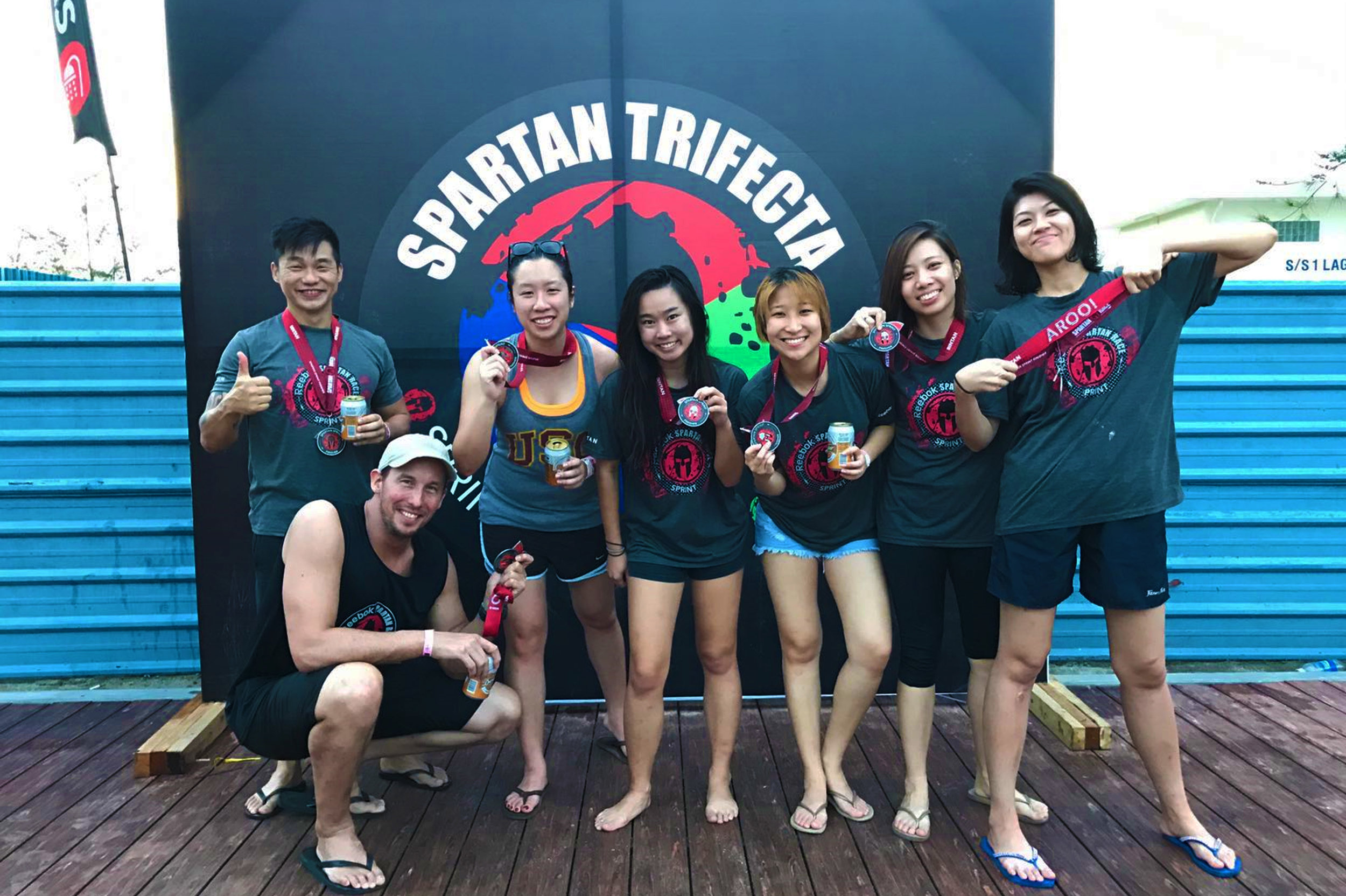 Team POSSIBLE Spartan finishers!