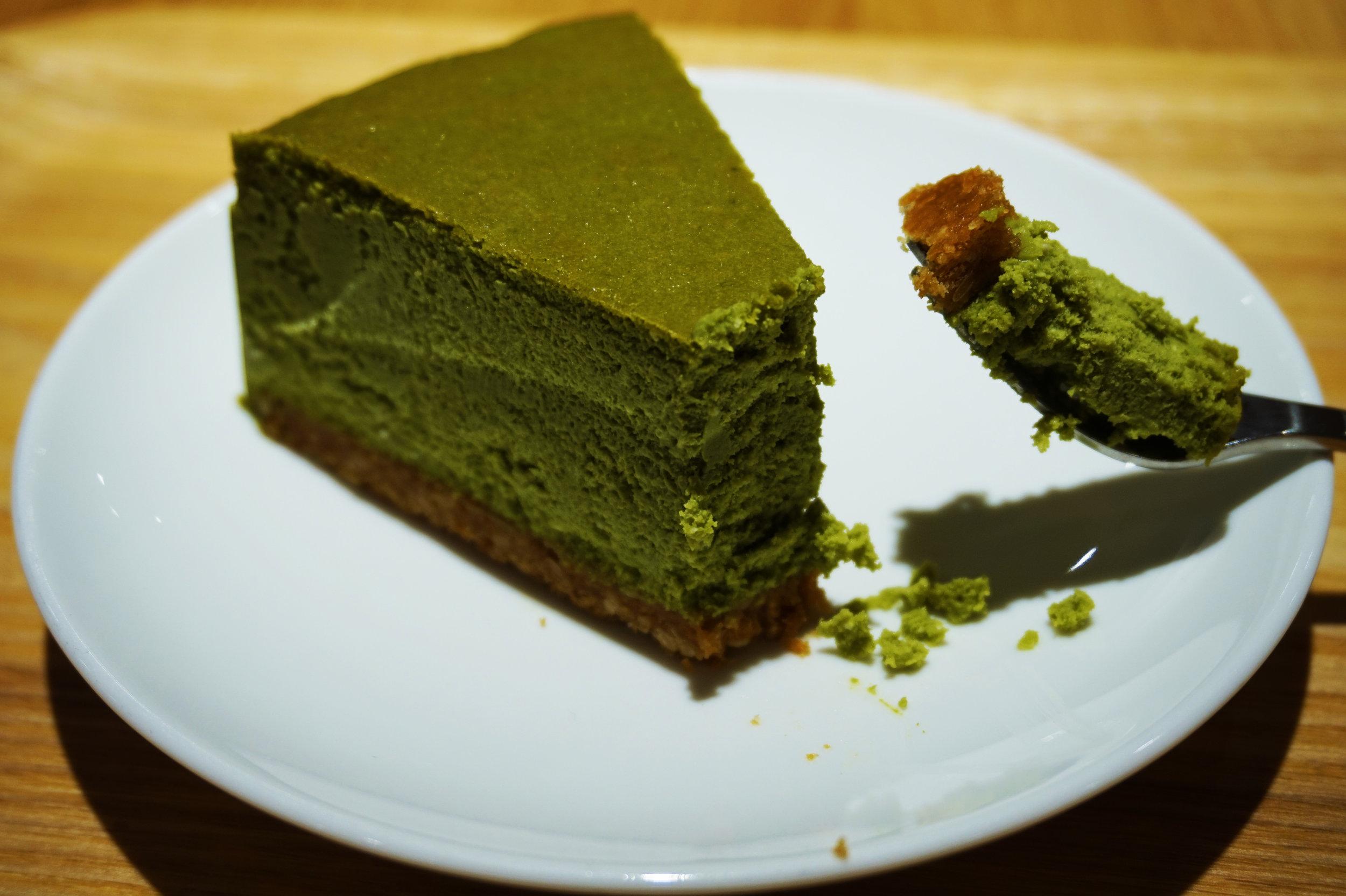 Matcha cheesecake from Muji Cafe