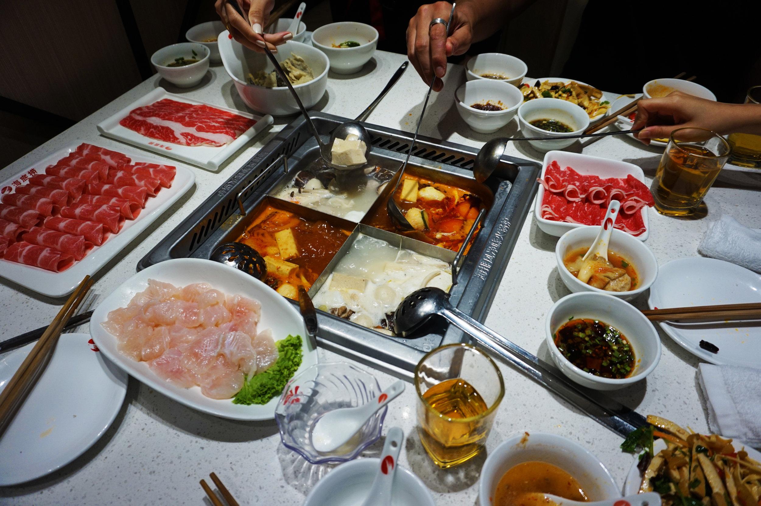 Hot pot from Hai Di Lao