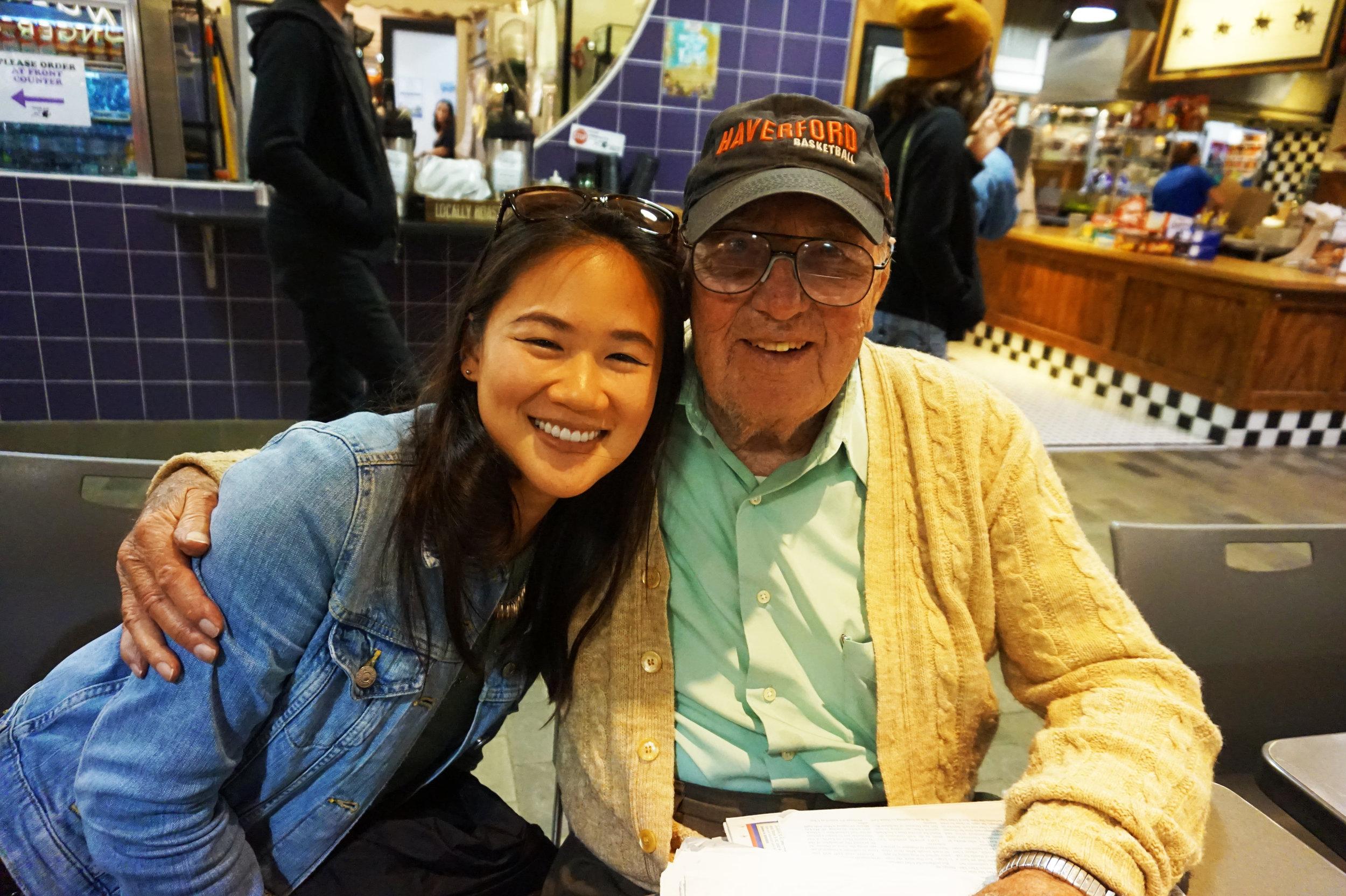 Chianna made a friend in a WWII veteran named George