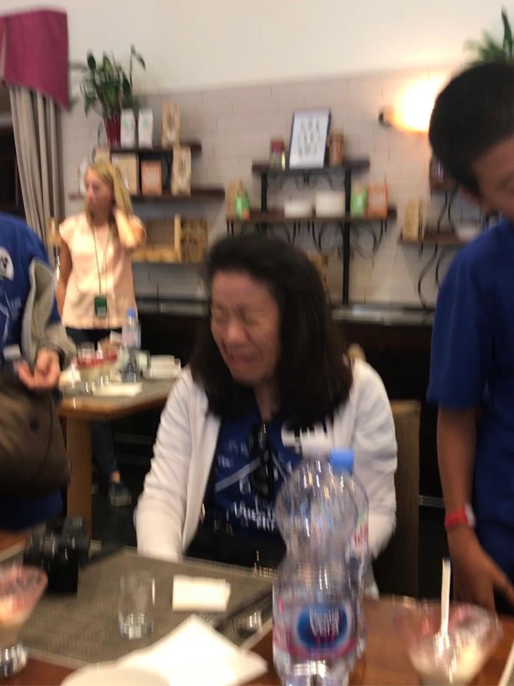 Blurry because Marisa was laughing so hard