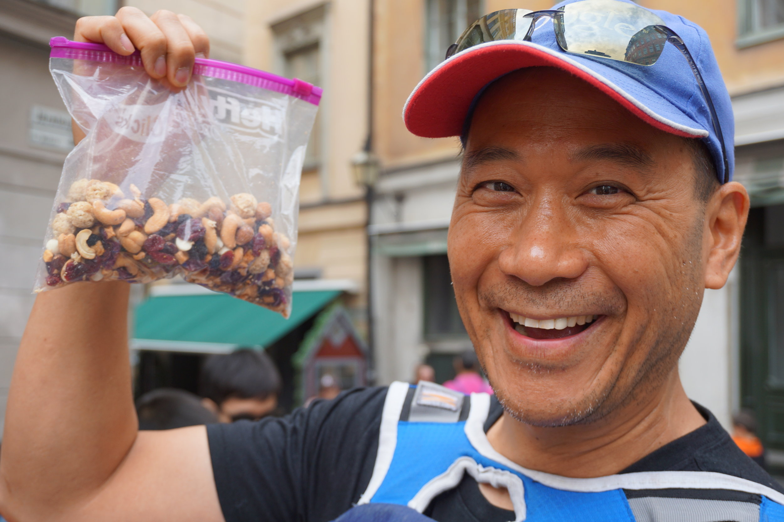 Uncle Dave was so proud of his homemade trail mix.