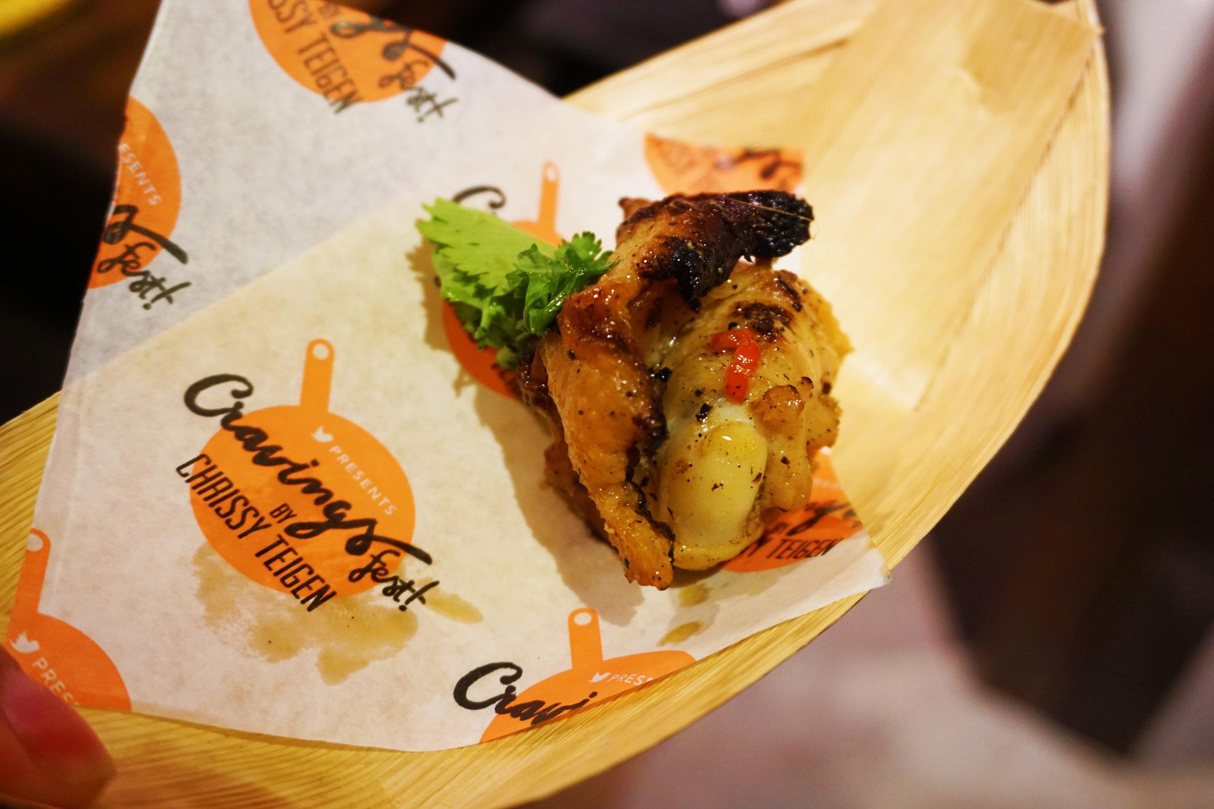 Thai-glazed chicken wing