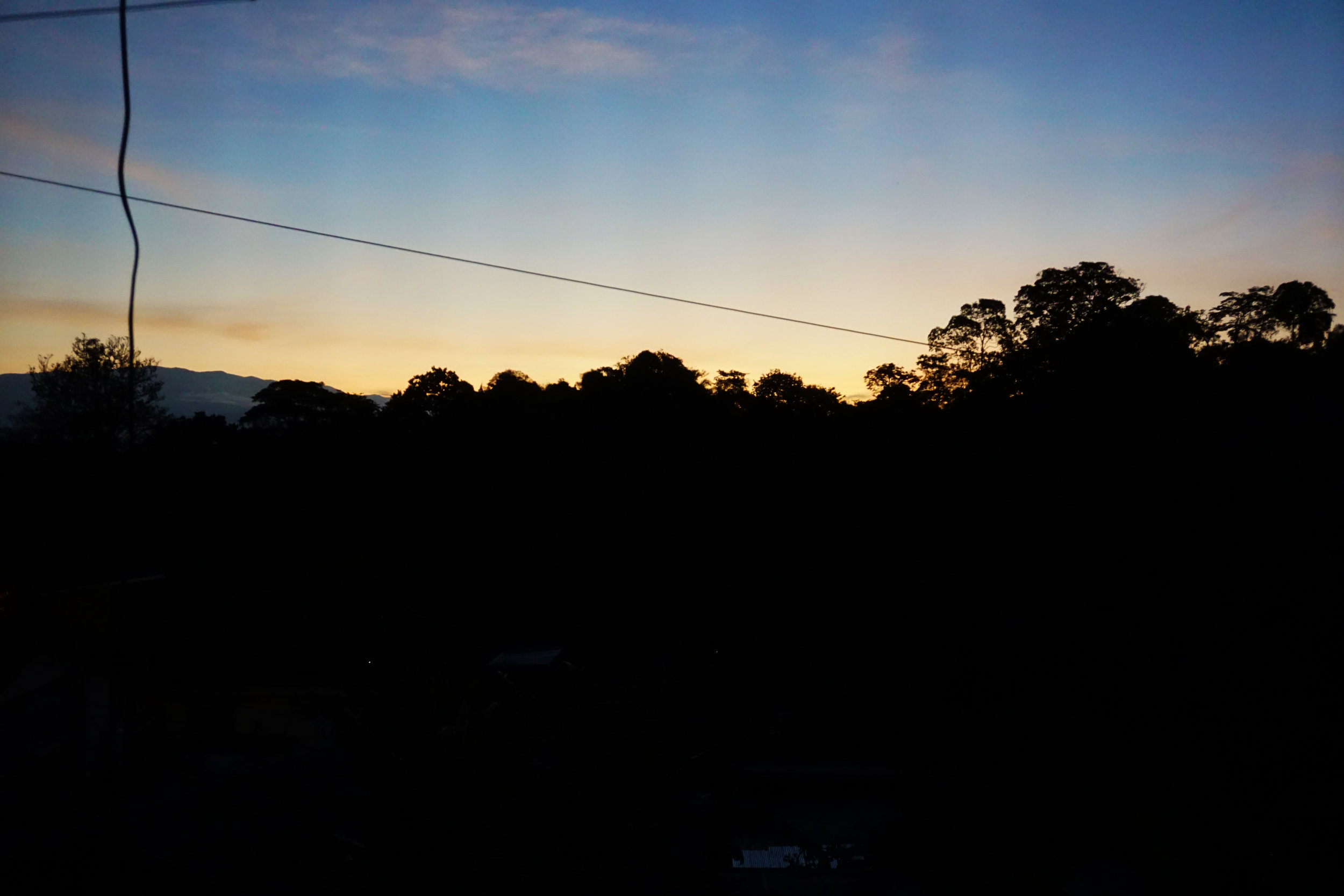 Sunrise in Manuel Antonio
