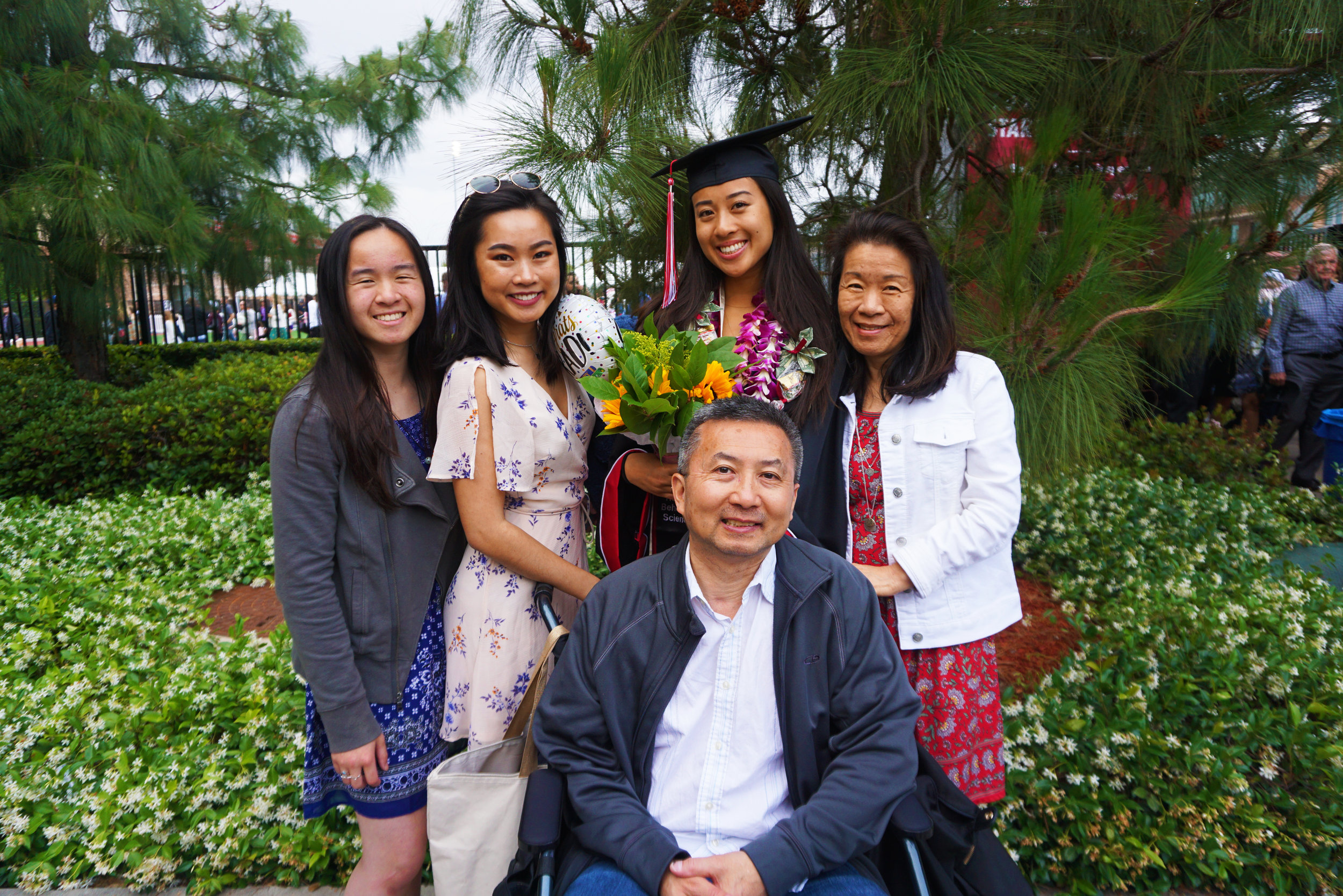 Marisa's graduation from Chapman University, 2019