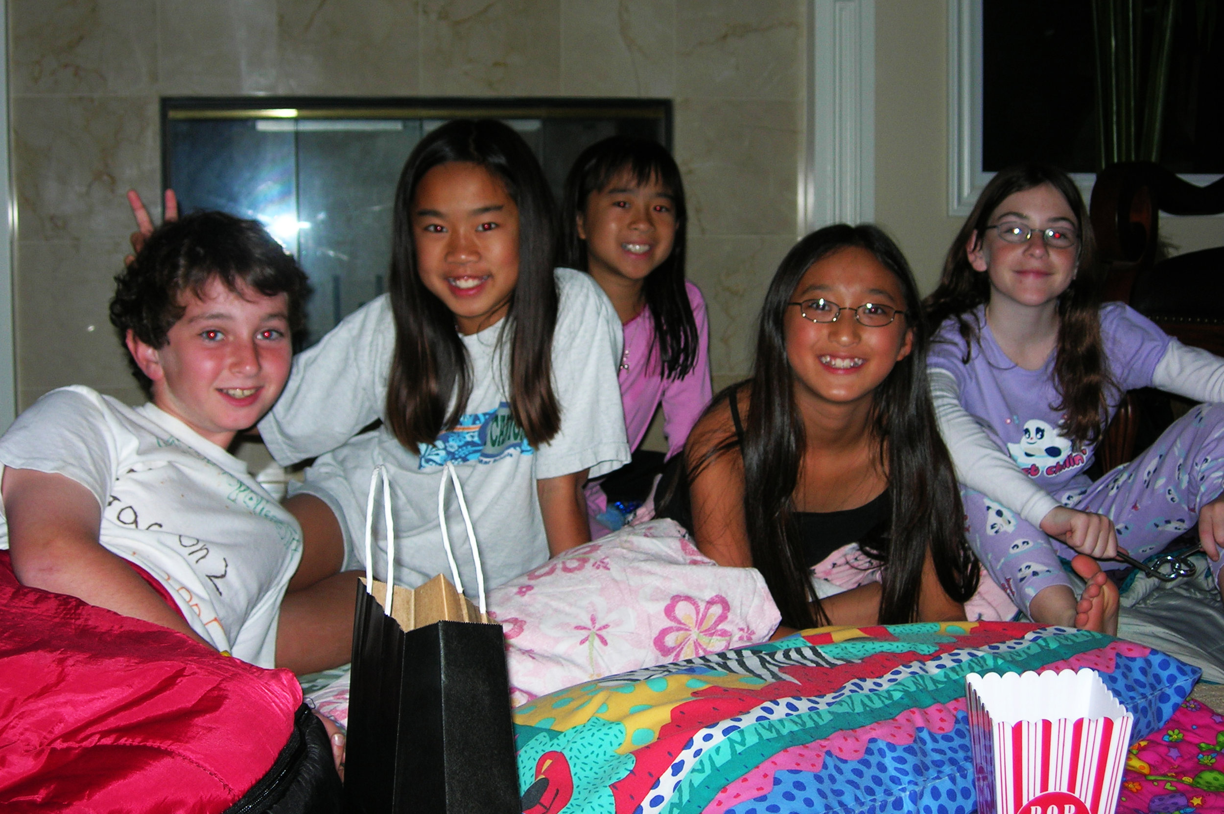 Birthday sleepover, 2006