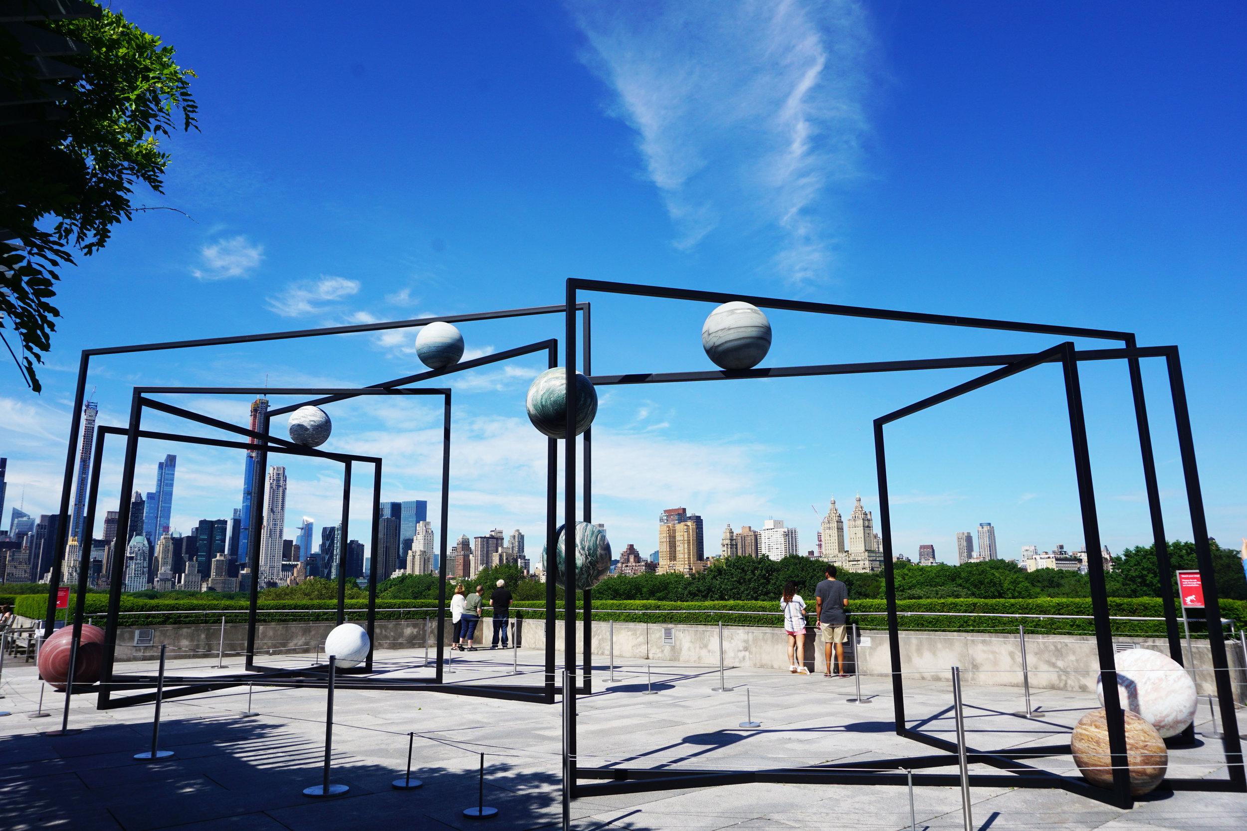 ParaPivot     by Alicija Kwade at The Met rooftop