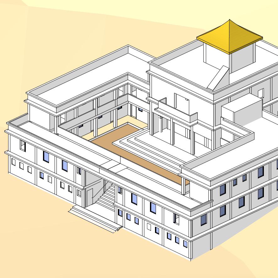 Nepalese Buddhist Temple Plan