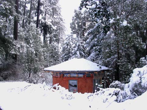 - An ADU can be a simple studio dwelling amongst the trees.