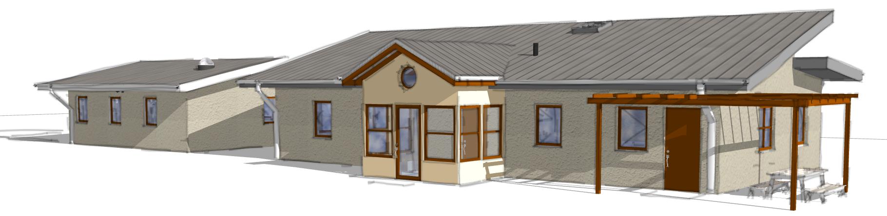 Rendering of Strawbale House in Temecula