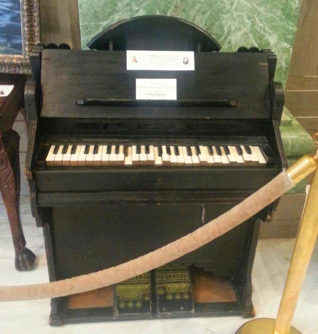 The reed organ carried across the plains on the back of John Daynes, father of the first Tabernacle Organist, Joseph Daynes.