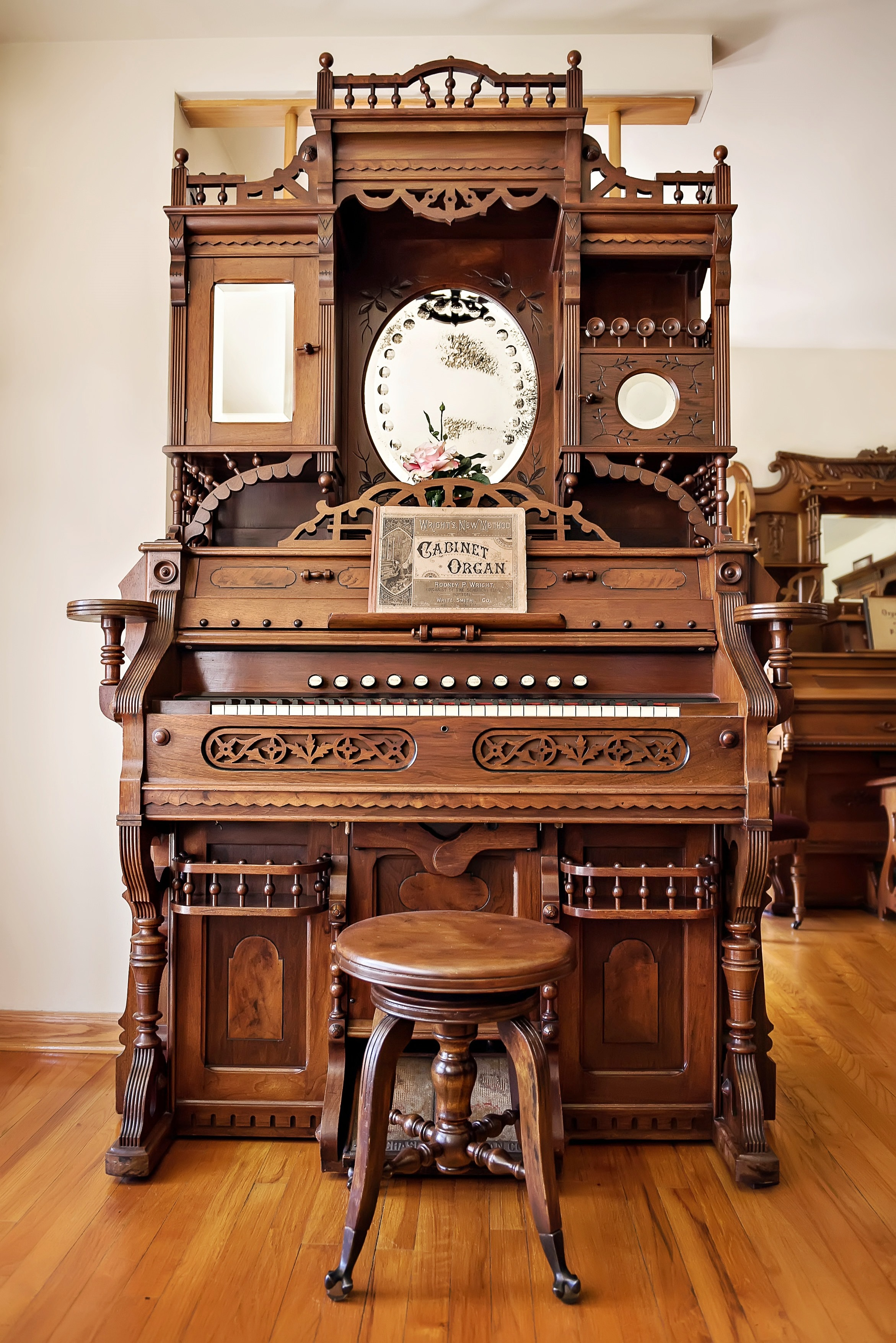 Parlor Organ for sale built by the A.B. Chase Company of Norwalk, Ohio.