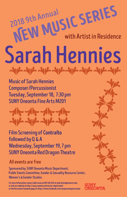 Sarah Hennies Poster