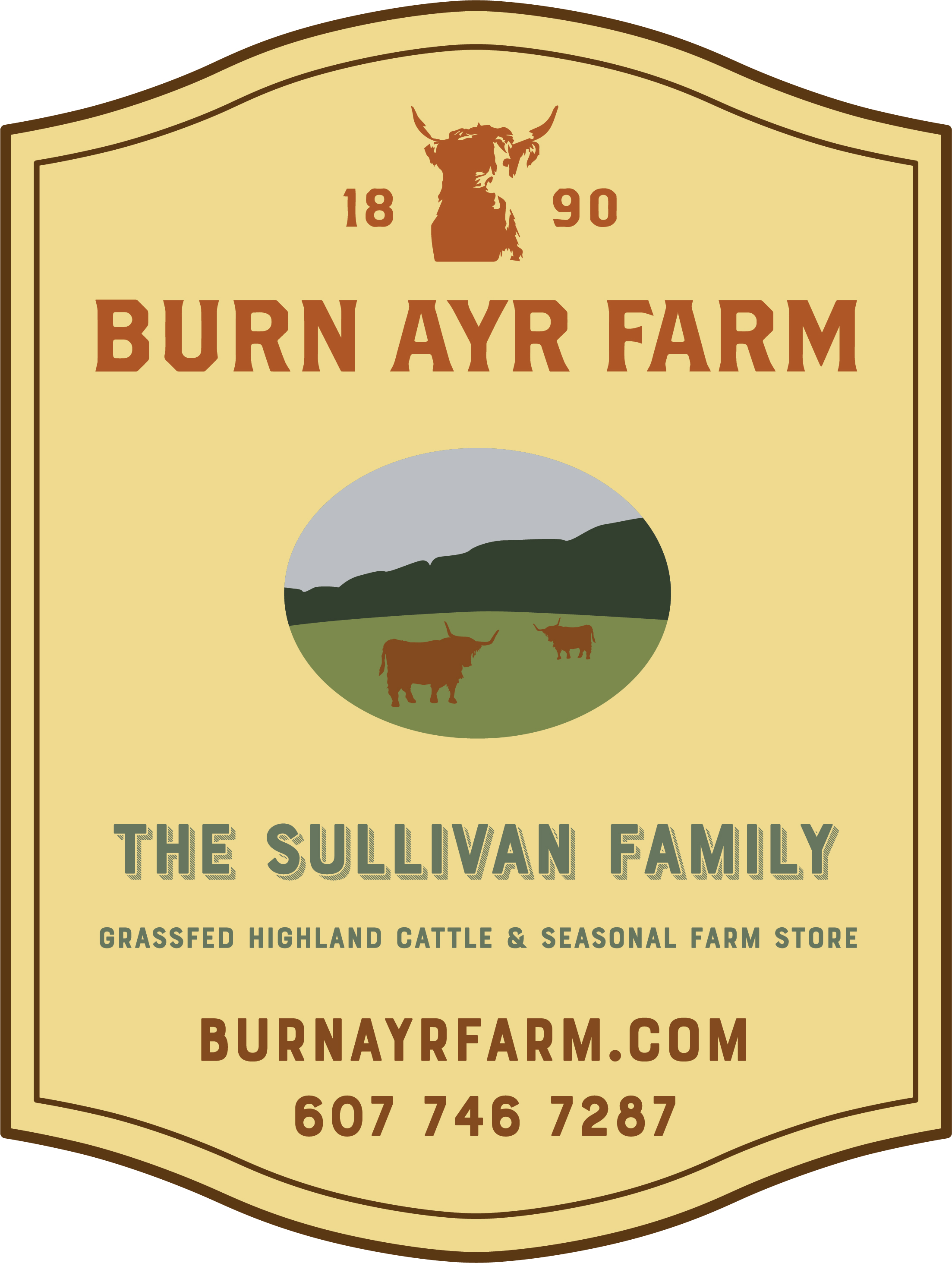 Burn Ayr Farm Sign