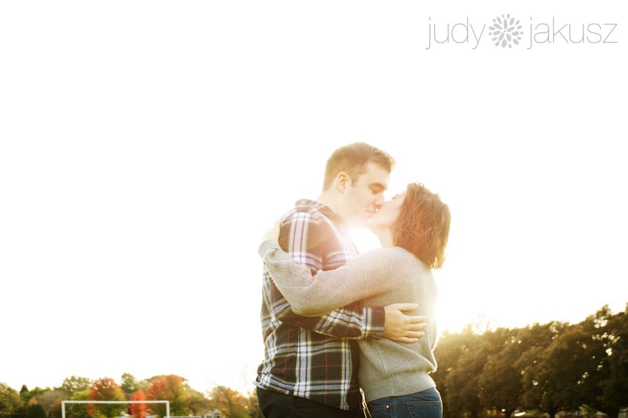 sunset kiss engagement photography in Hamilton brantford london and kitchener judy jakusz wedding photography.jpg