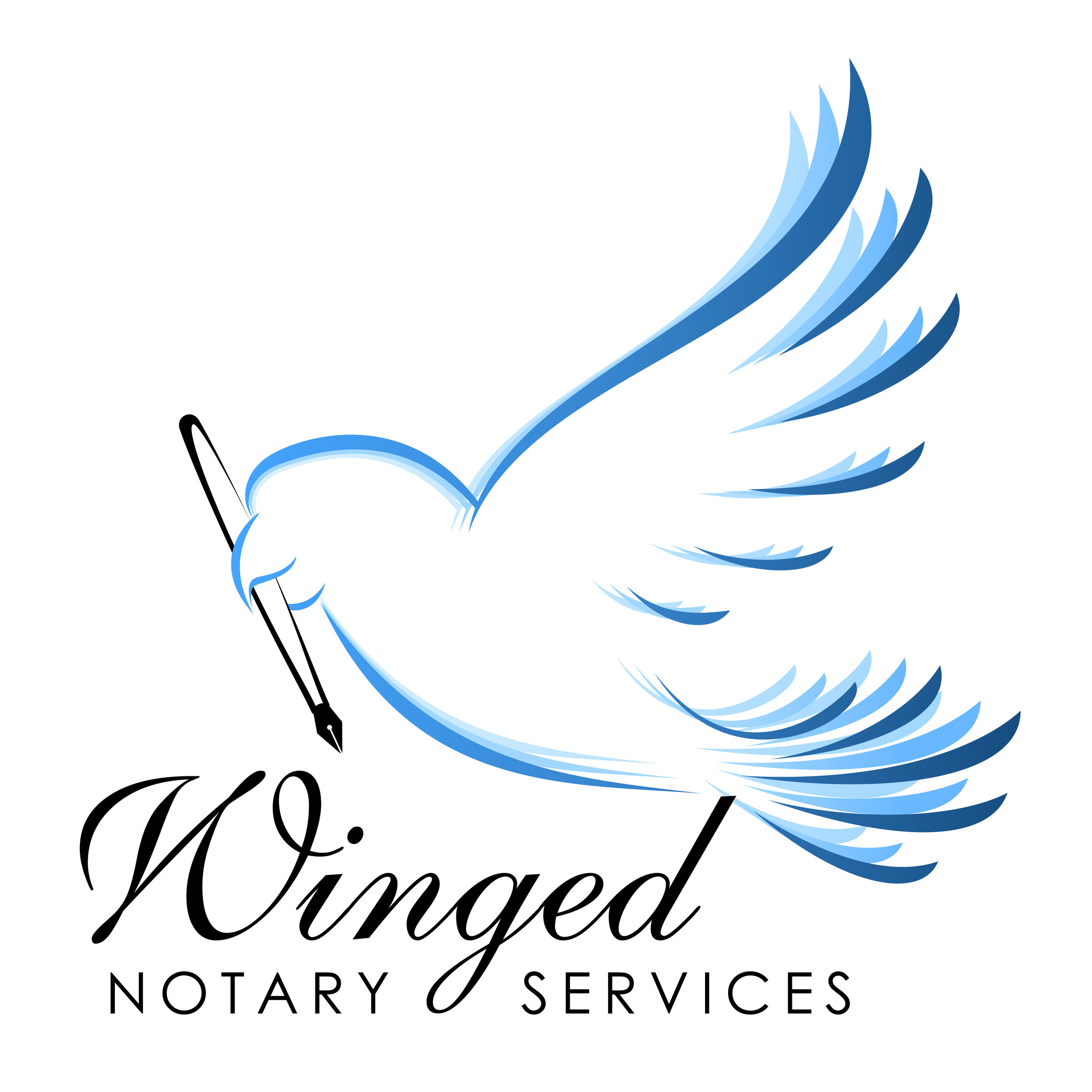 Winged Notary Services logo