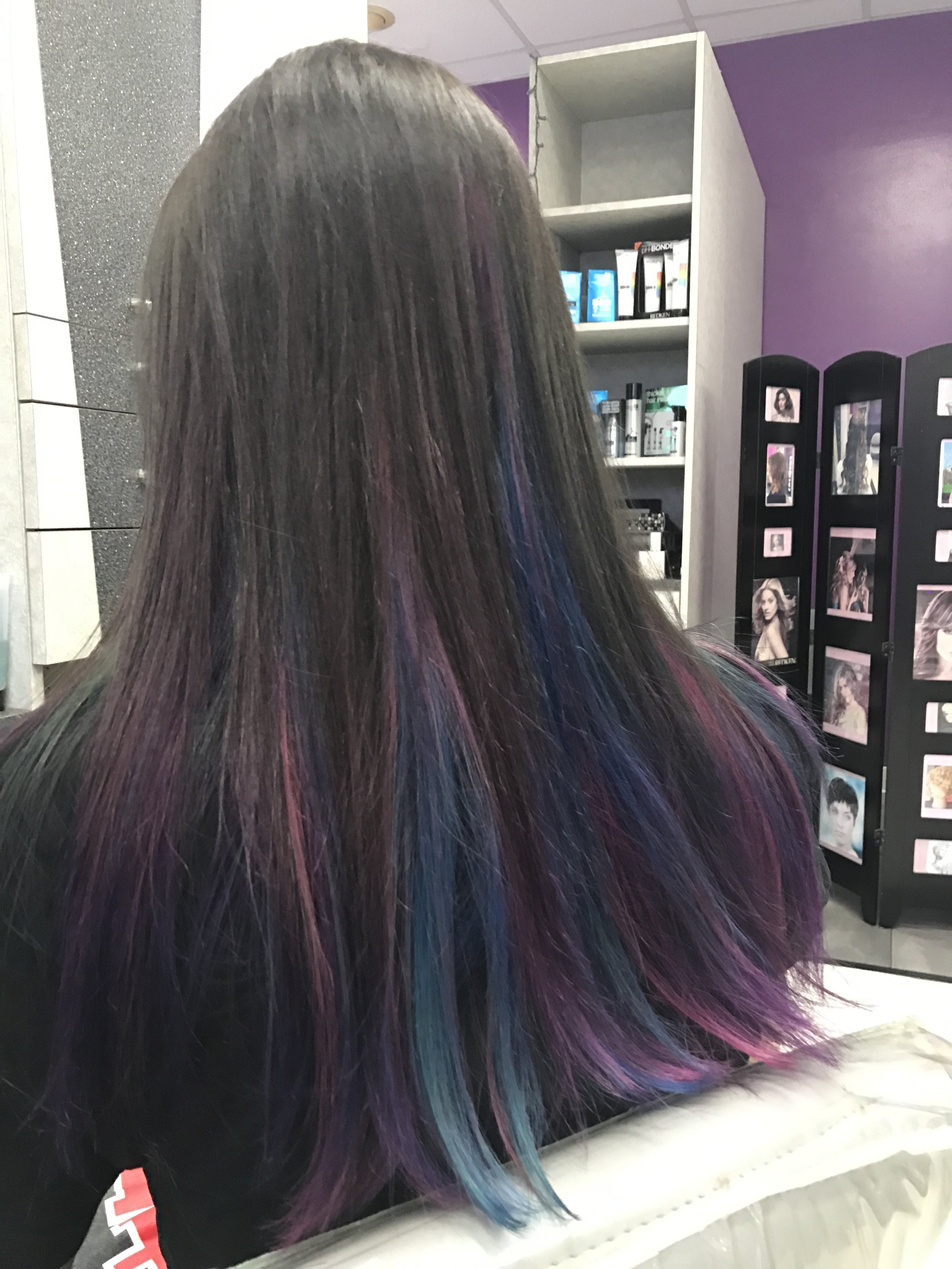 Purples Hot Pinks and Blue!!