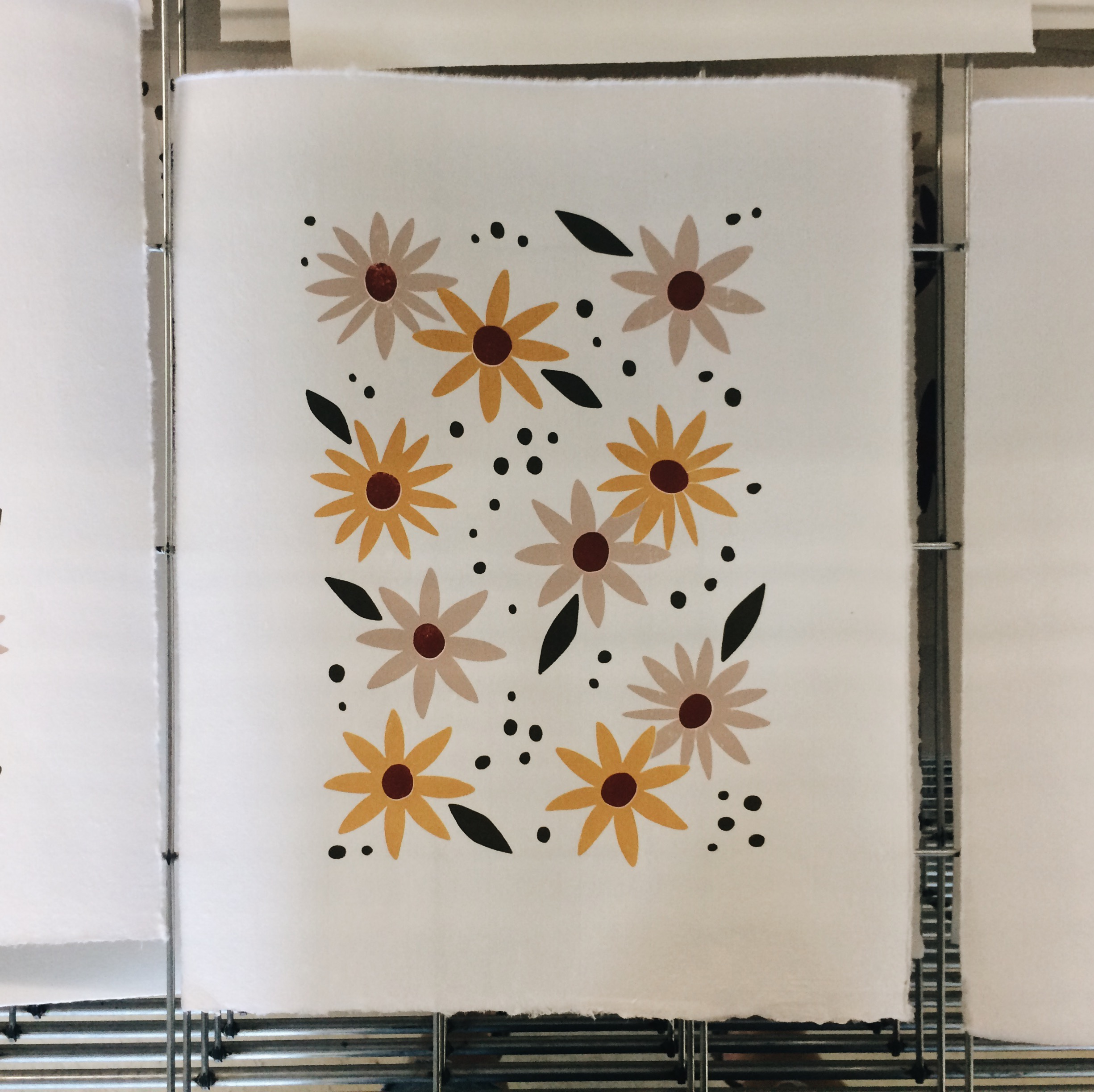 brown eyed susan screen print
