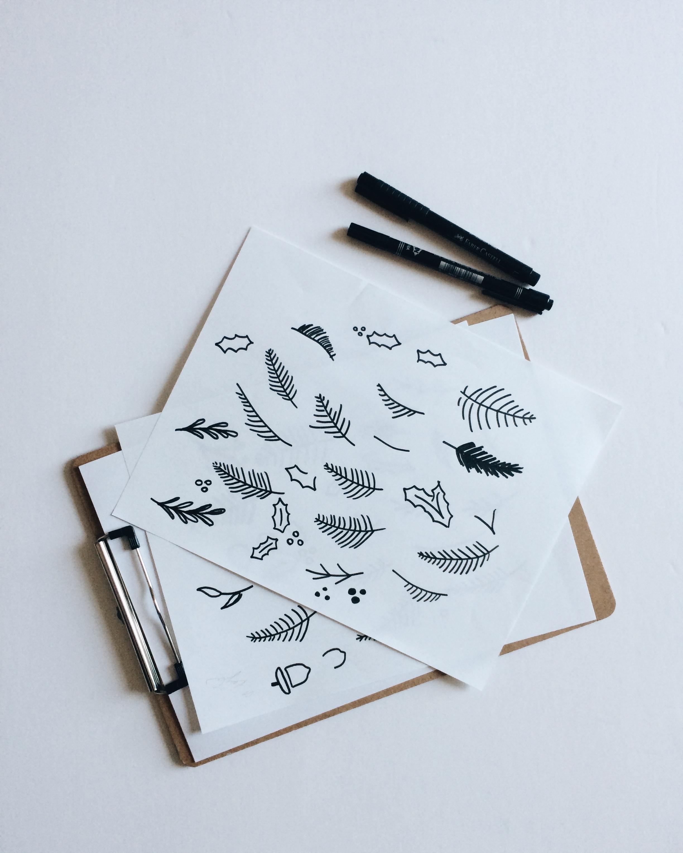 Step 1: Sketch. Draw. Ink.
