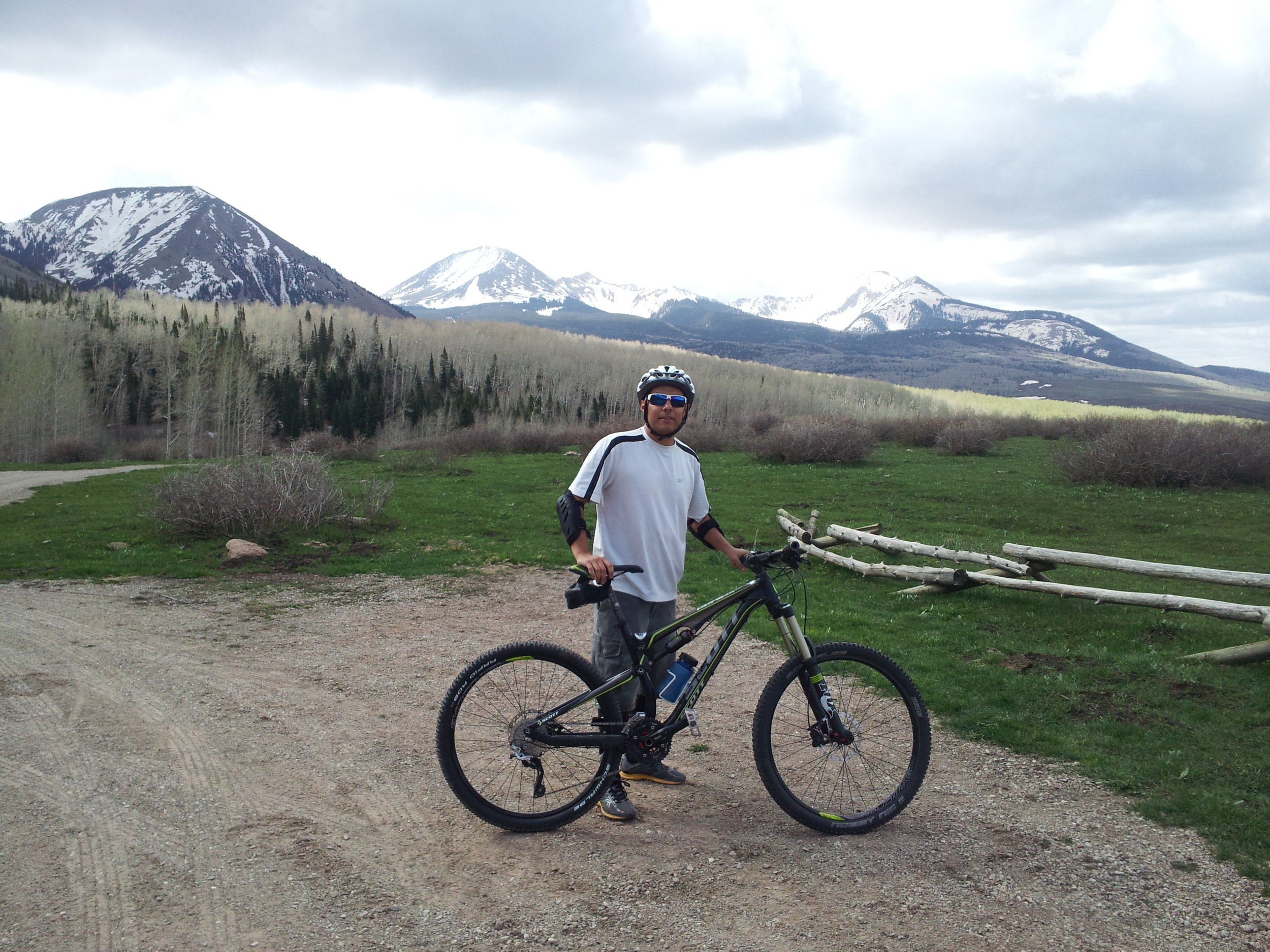 IPC's Todd Schuster, PA-C, gets refueled after a ride on his mountain bike.