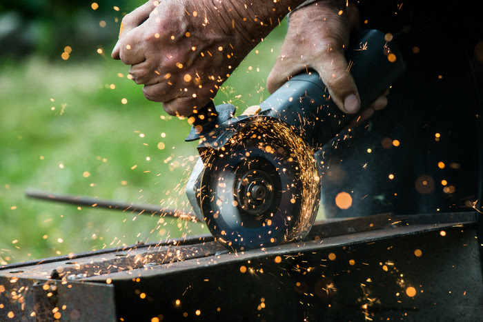 Get workers' compensation for a burn at work.