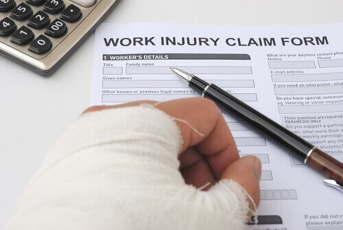 Workers' Compensation claim form.
