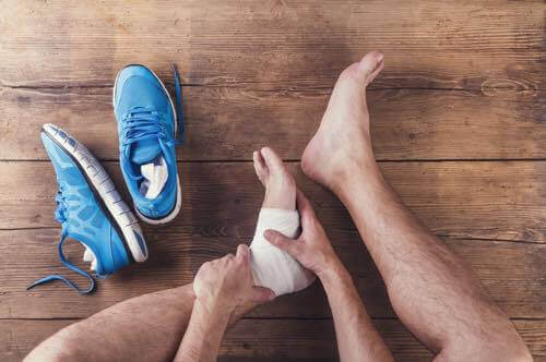 Different kinds of ankle injuries.