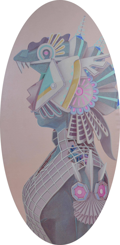 LELUCTA Z4   Acrylic on linen 60 × 120 cm