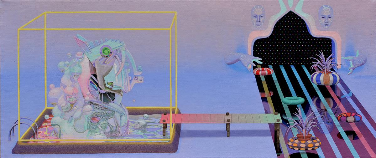 CHAPTER 3: RIVER DANCE   Acrylic on linen 140 × 60 cm
