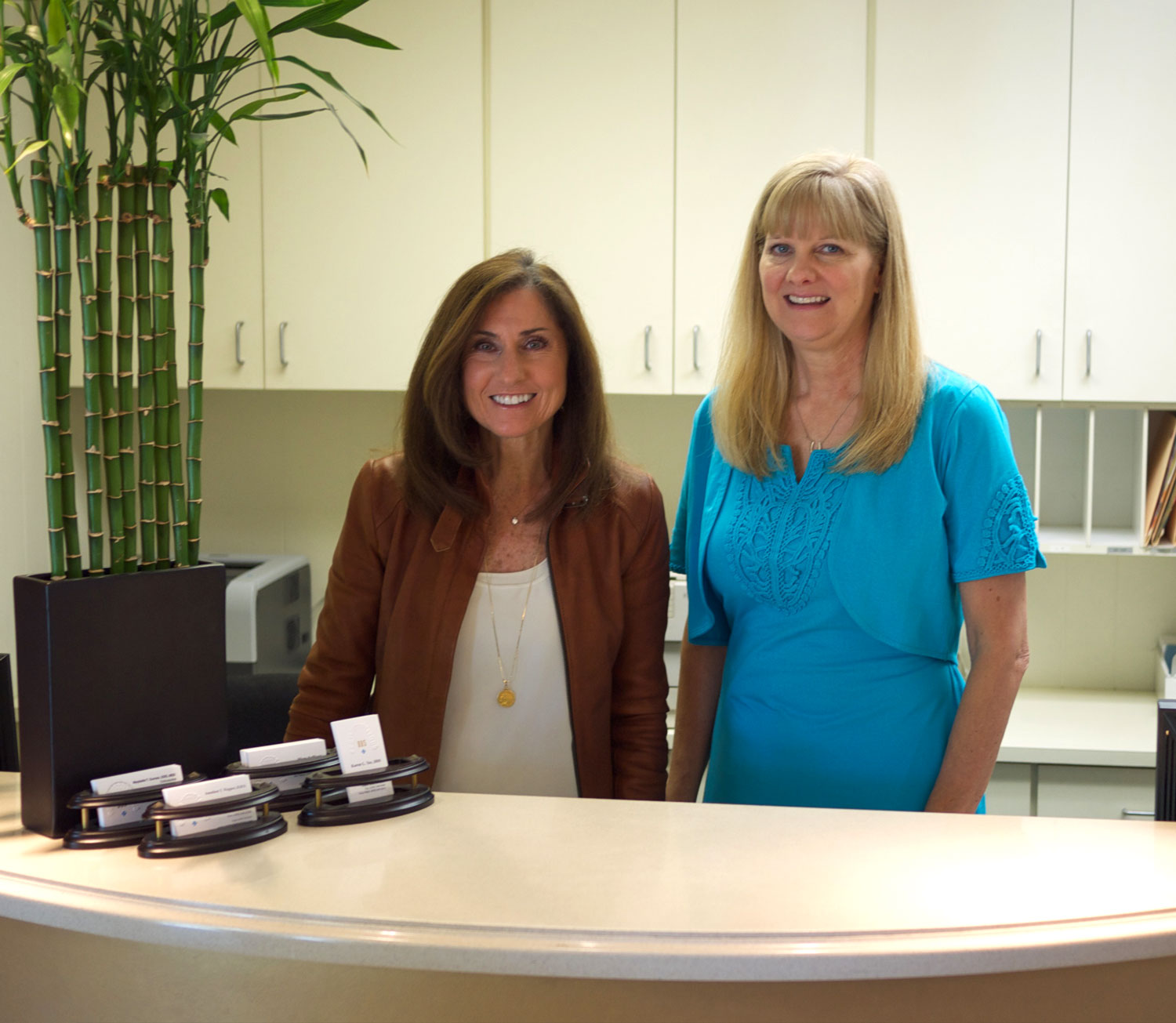 Office manager Mary and Registered Dental Assistant Kathleen