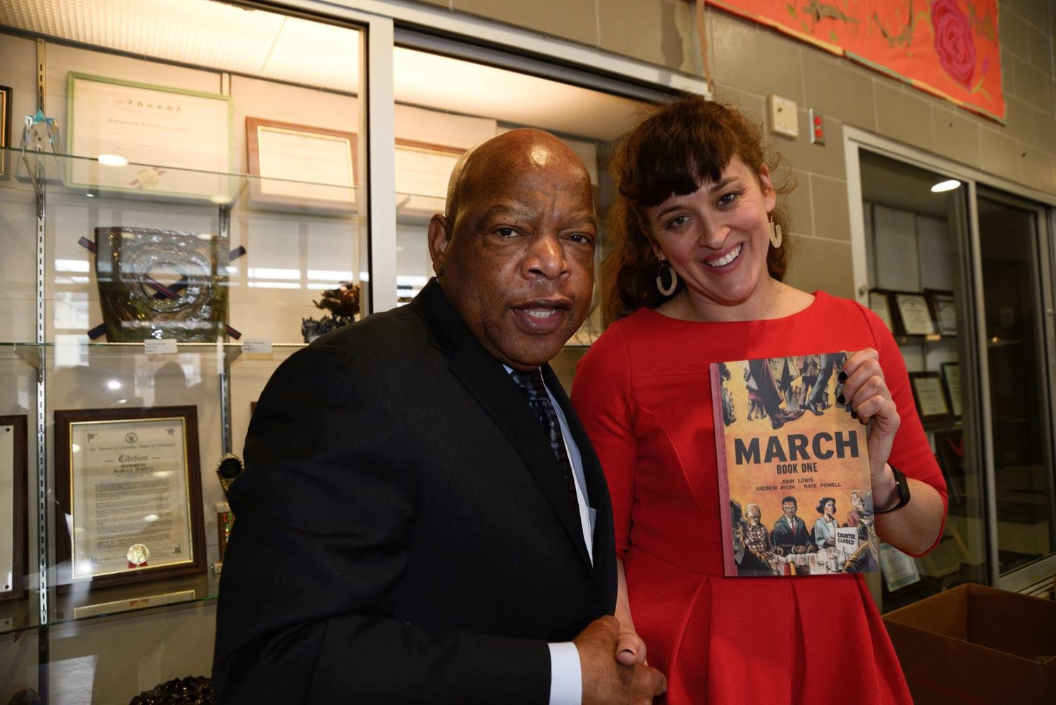 """Visual Storytelling and the Personal Narrative"" professional development event organized by Amanda Boggs for the art teachers of the DC Public School System. We were honored to host Congressman John Lewis who came and spoke about his graphic novel ""March""."