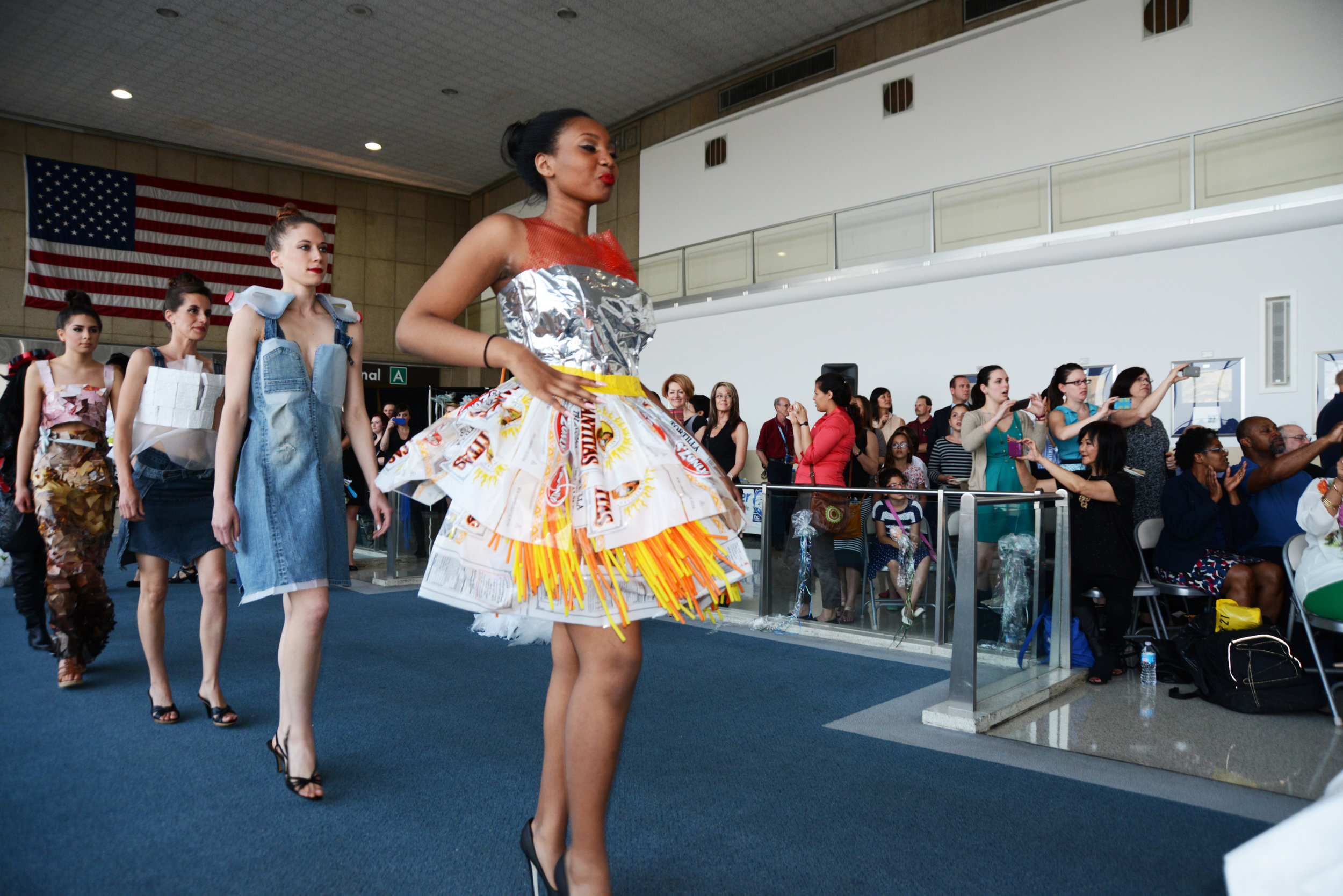 DCPS Annual Art Show with students in the  Trashion Fashion Show