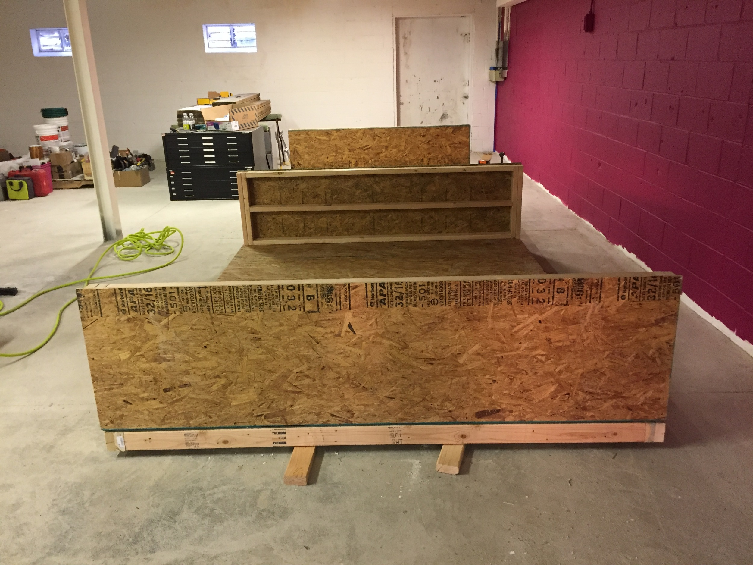 building a pin-up wall / storage unit.