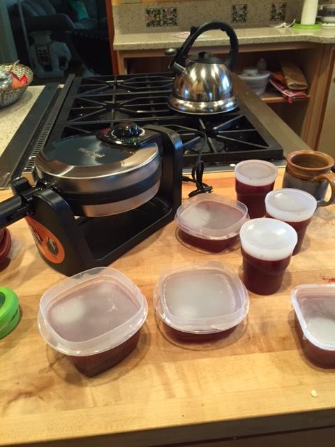 Making Pinot Noir jelly.