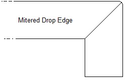 Mitered Drop Edge