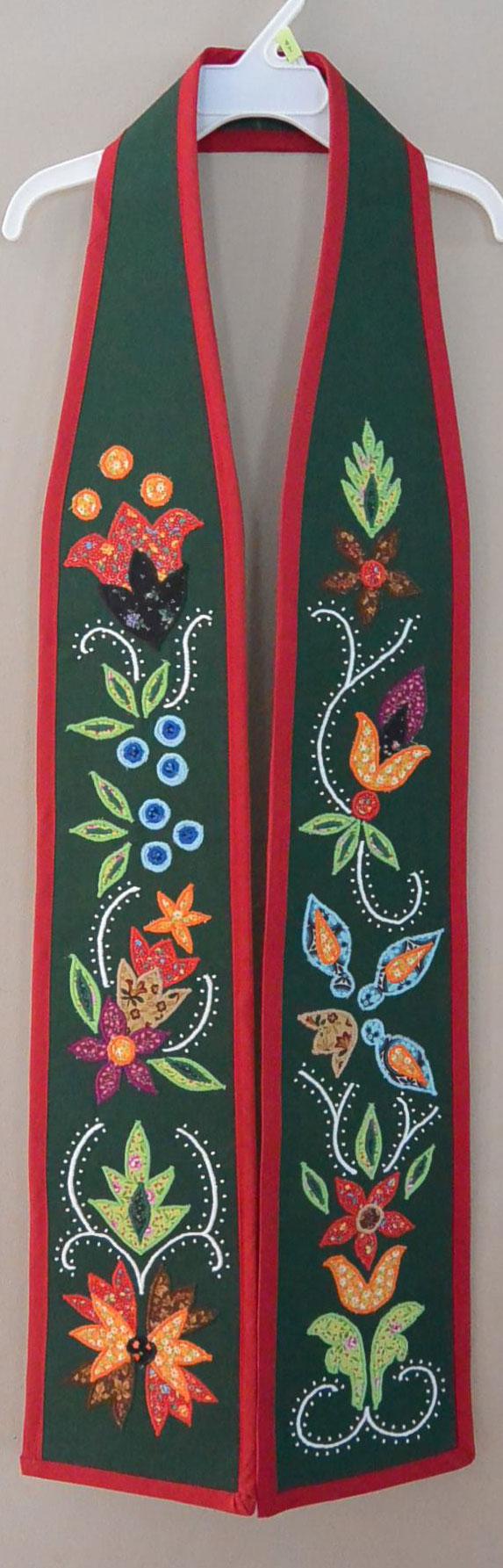 Anishinaabe A-Symmetric Floral Graduation Sash