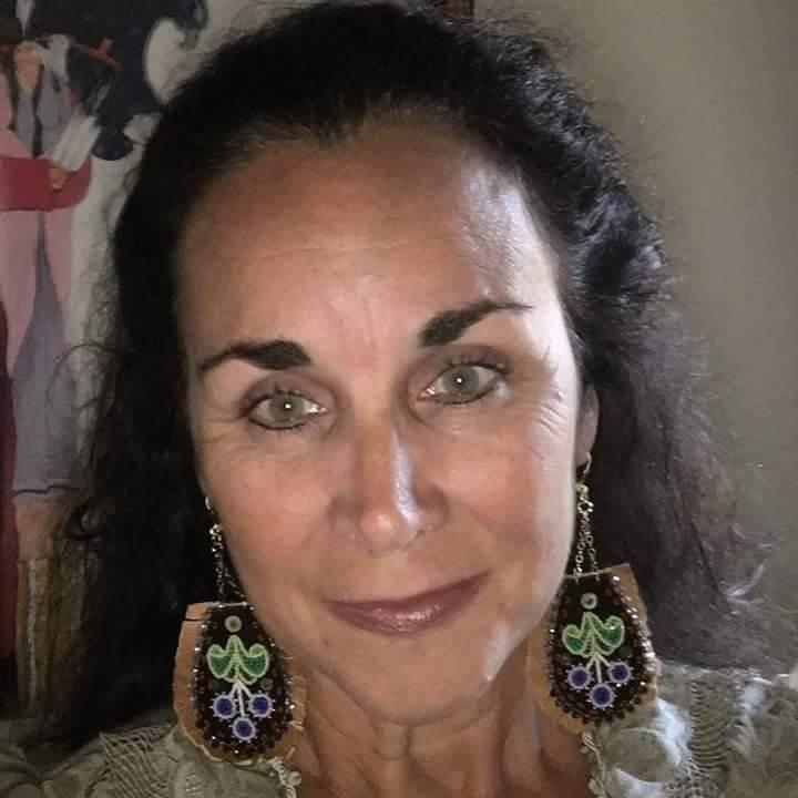 Black velvet Earrings with hide fringe