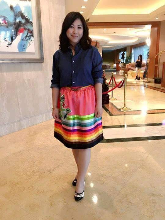 Applique ribbon skirt