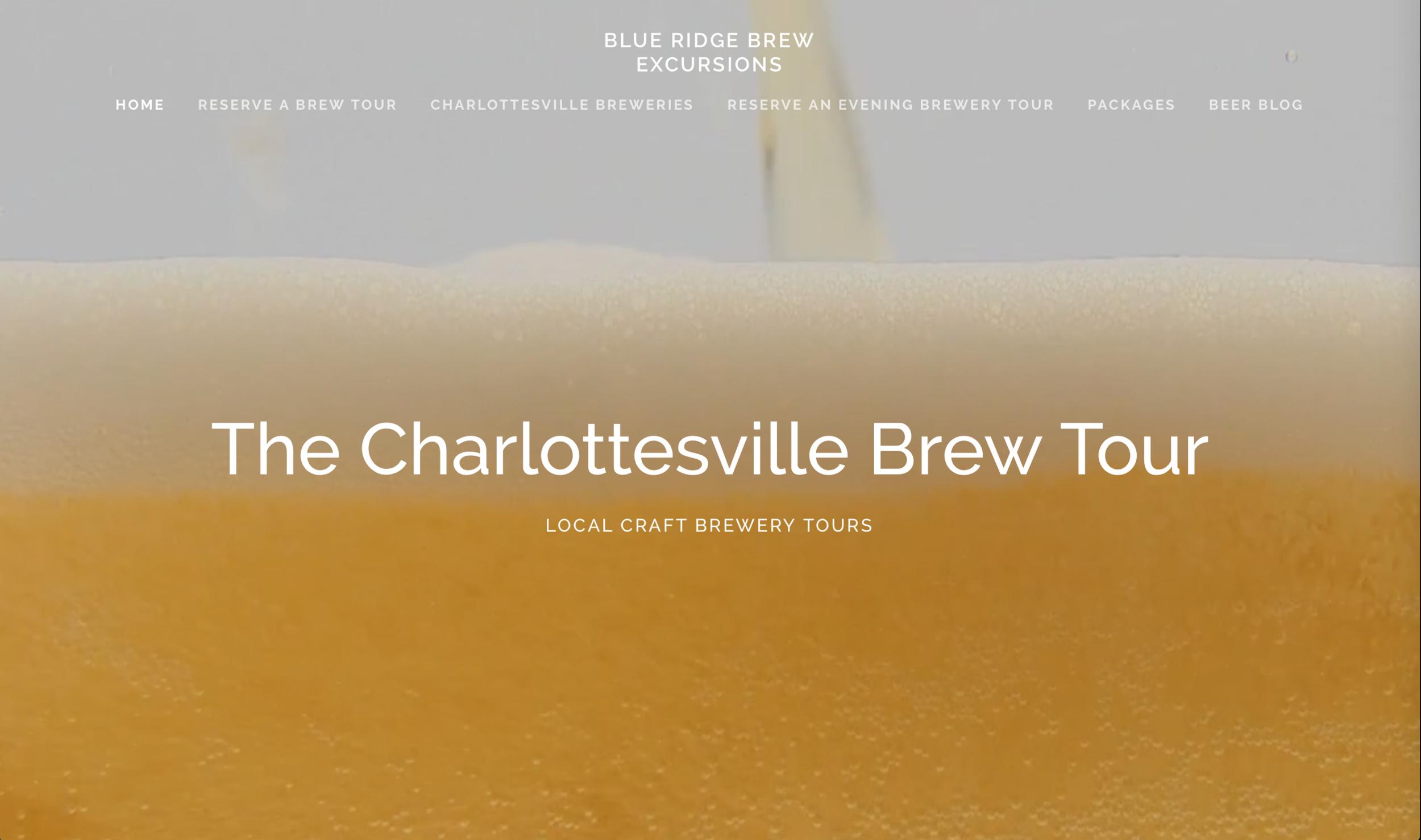Website Design - Blue Ridge Brew Excursions