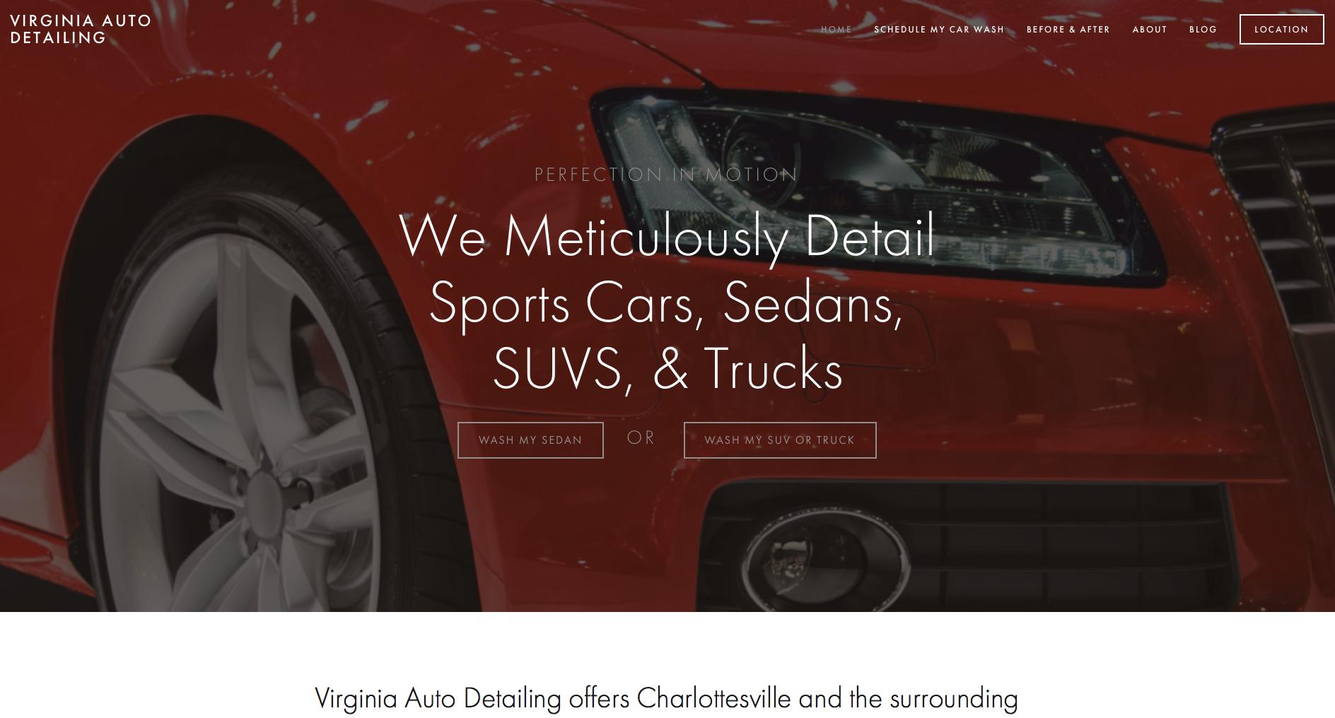 Website Design - Virginia Auto Detailing