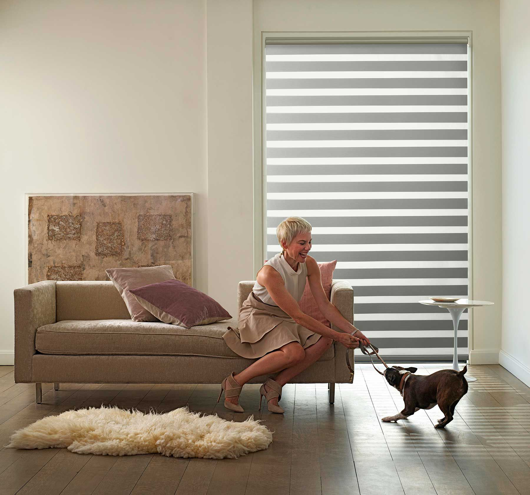 LEVOLOR Blinds, Print Campaign, with Bruno. photographer Laurie Frankel